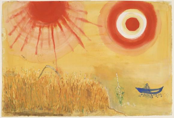Marc Chagall - Un campo di grano in un pomeriggio d'estate, 1942