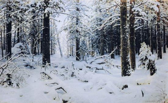 Ivan Ivanovic Šiškin, Inverno, 1890, olio su tela, museo di Stato Russo, San Pietroburgo