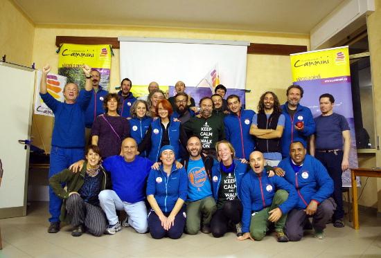 Guide e staff della Compagnia dei Cammini. Santa Margherita Ligure, novembre 2016