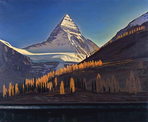 Rockwell Kent, Mount Assiniboine, Canadian Rockies, 1952, olio su tela
