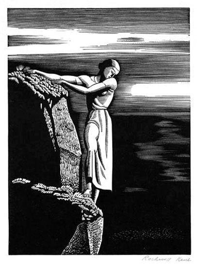 Rockwell Kent, Girl on Cliff, 1930