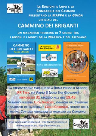 Cammino dei Briganti, presentazione, 31 maggio 2017 a Roma