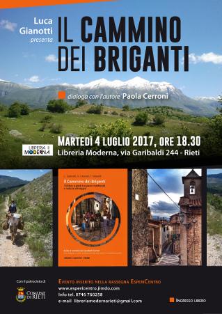 Cammino dei Briganti, presentazione, 4 luglio 2017 a Rieti
