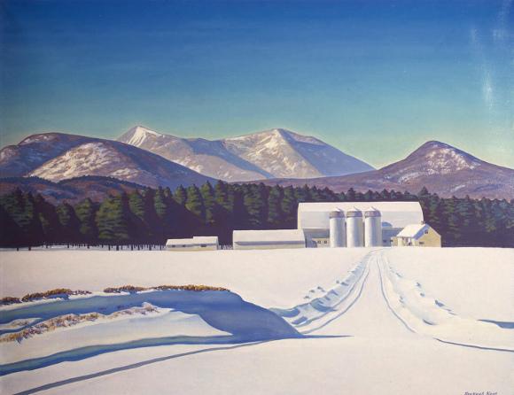 Rockwell Kent, Road To Asgaard: Adirondacks, 1960, olio su tela, Hermitage Museum San Pietroburgo