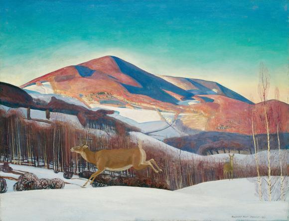 Rockwell Kent - Mount Equinox, Winter - 1921 – Art Institute of Chicago