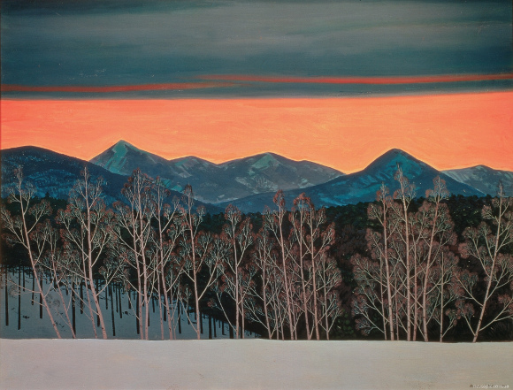 Rockwell Kent, Red evening (sunset at Aasgard), 1960