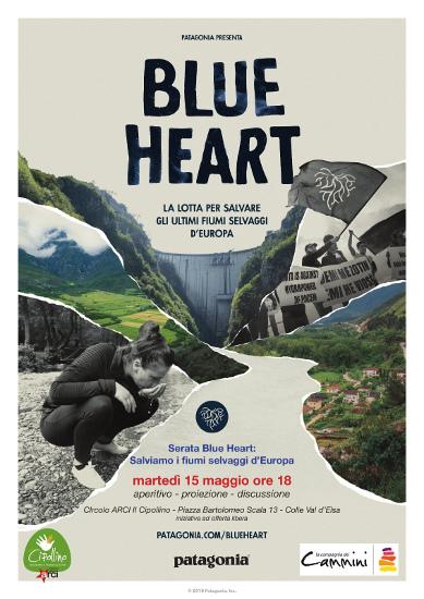 Patagonia, Blue Heart: Salviamo i fiumi selvaggi d'Europa. Martedì 15 maggio 2018 alle ore 18 a Colle Val d'Elsa (SI)