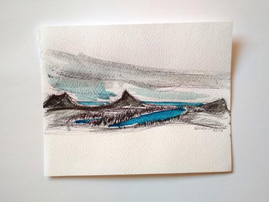 Stefania Biffi - V° giorno, panorama verso i laghi salendo verso il Ben More Assynt