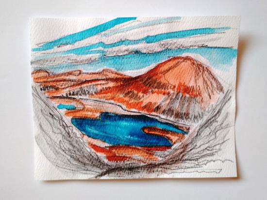 Stefania Biffi - VIII° giorno, panorama verso SW dalla sella salendo su una cima, vista sul Stack Loch