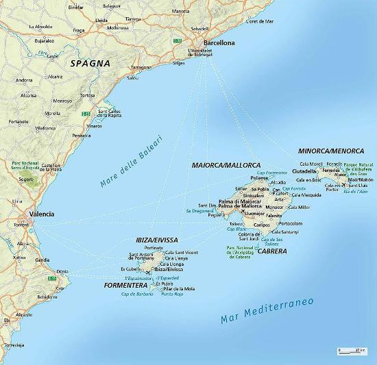Mappa di Maiorca