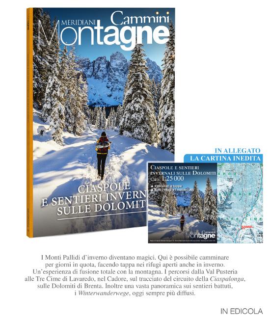 Meridiani speciale cammini invernali: Ciaspole e sentieri invernali sulle Dolomiti