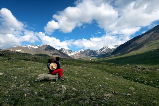 Mongolia, donna sola