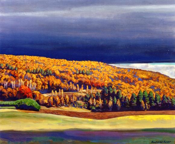 Rockwell Kent, Golden Fall (autunno dorato), olio su tela, 1955 ca.