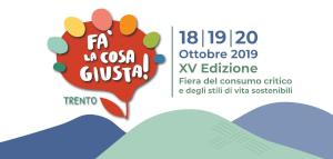 Fa' la cosa giusta Trento 18-19-20 ottobre 2019