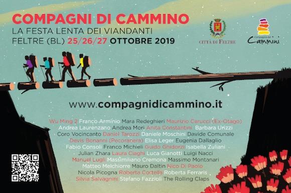 Compagni di Cammino. La festa lenta dei viandanti. Feltre (BL) 25/26/27 ottobre 2019