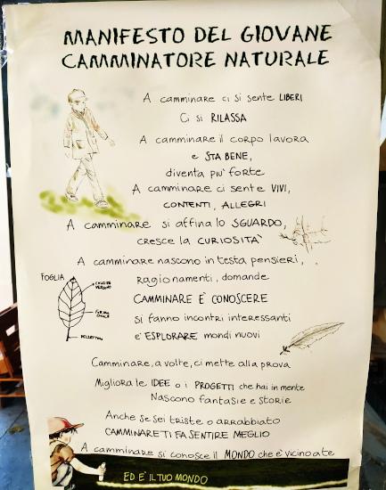 Manifesto del giovane camminatore naturale
