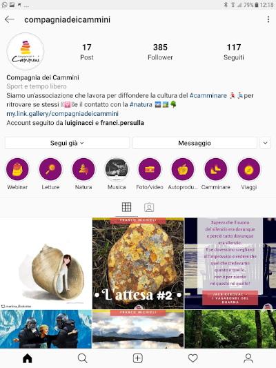 Instagram compagniadeicammini