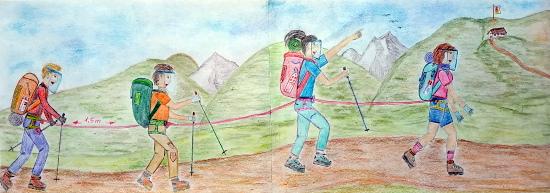 Brigitte Minder, Camminare ai tempi dell'emergenza sanitaria