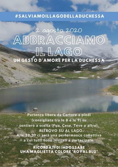 2 agosto 2020: Abbracciamo il lago. Un gesto d'amore per la Duchessa