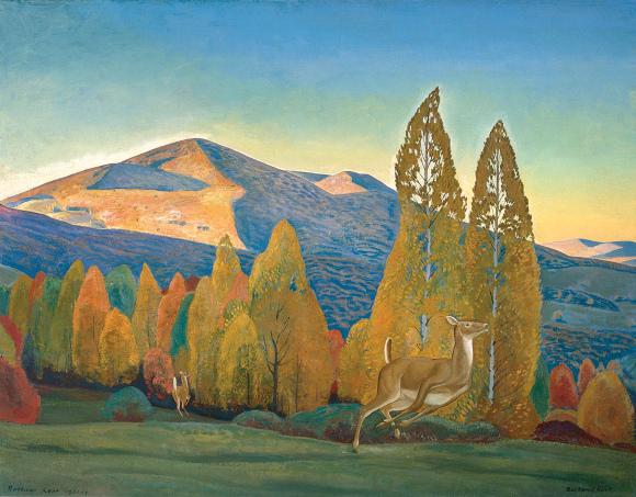 Rockwell Kent, Mt. Equinox, Vermont, 1921-23, olio su tela