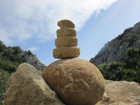 Monti Iblei (Sicilia): ometto di pietre