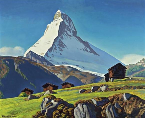 Rockwell Kent, The Matterhorn, 1958 circa, olio su tela