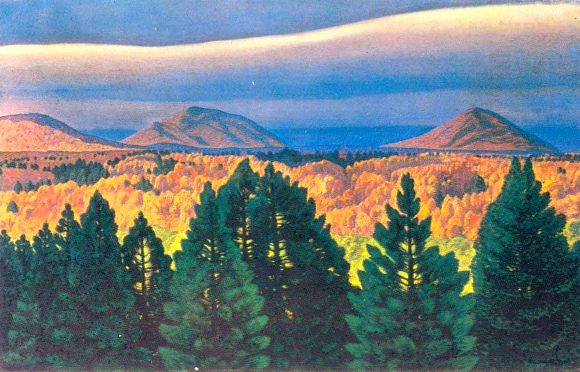 Rockwell Kent, Autumn in the Adirondack Mountains