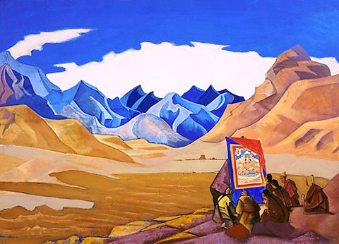 Nicholas Roerich - Banners of the Coming One