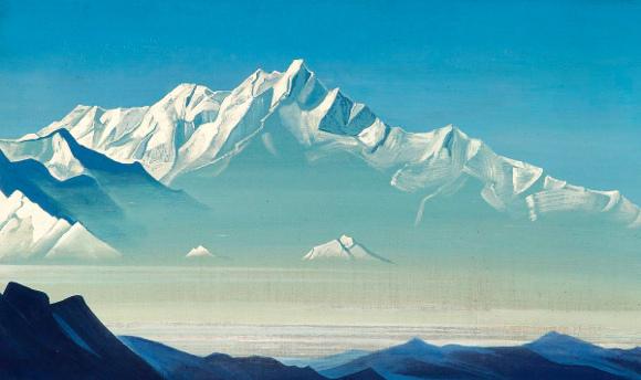 Nicholas Roerich - Monte dei Cinque Tesori (due mondi)