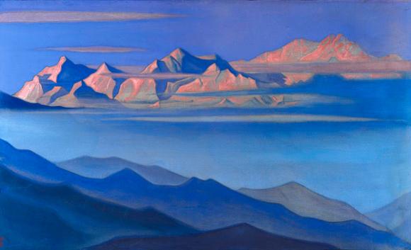 Nicholas Roerich, Kangchenjunga, 1944. Museo internazionale Roerich di Mosca