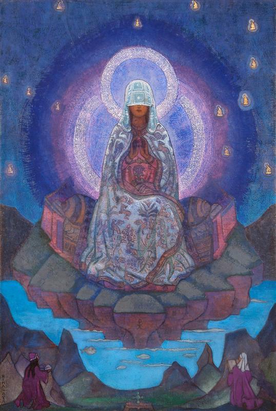 Nicholas Roerich, Madre della Terra, 1937. Tempera su tela, Nicholas Roerich Museum, New York