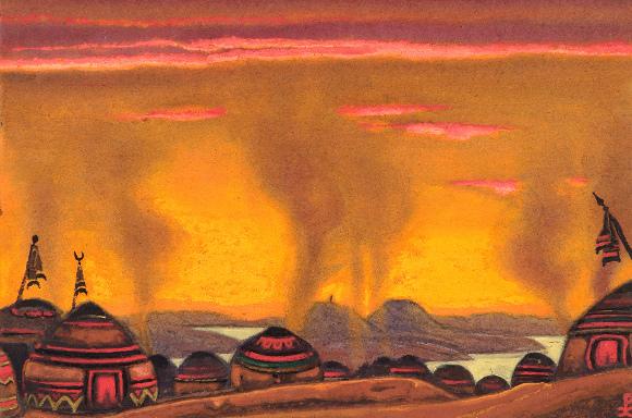 Nicholas Roerich - Polovtsian Camp