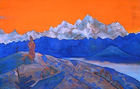 Nicholas Roerich - Lama rosso