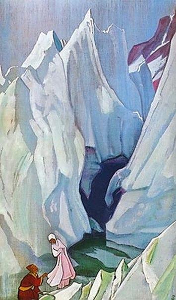 Nicholas Roerich, Colei che guida, 1924