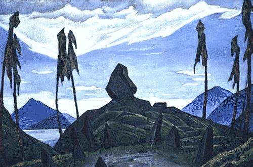 Nicholas Roerich, Il rito della Primavera, 1930, studio per l'opera di Igor Stravinsky La sagra della primavera