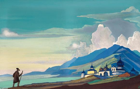 Nicholas Roerich, Viandante della città risplendente, 1933