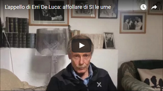 Video L'appello di Erri De Luca: affollare di SI le urne