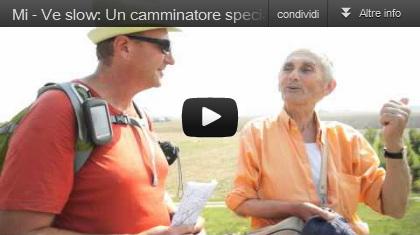 video Milano-Venezia slow: Un camminatore speciale sull'argine del Po