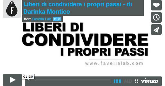Video Liberi di condividere i propri passi - di Darinka Montico
