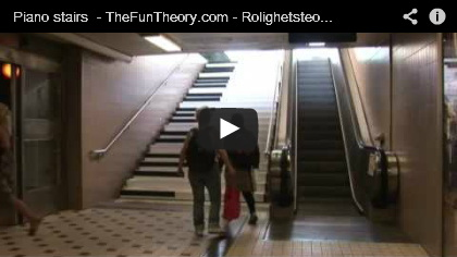 Video Piano stairs - The fun theory