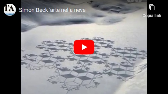 video Simon Beck: Arte nella neve