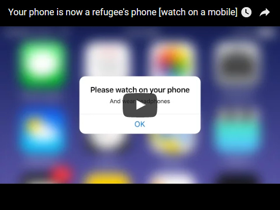 Video Your phone is now a refugee's phone